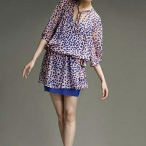 Diane von Furstenberg new Desma silk tunic dress